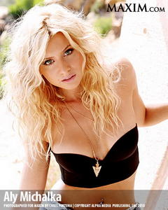 Alyson Michalka hot lingerie Maxim