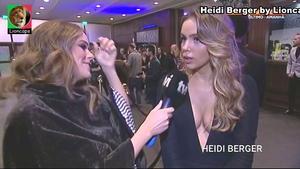 Heidi Berger sensual na festa GQ