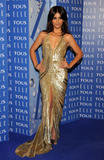 Monica Cruz shows cleavage in gold low-cut dress at 7th ELLE Awards in Barcelona